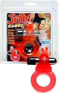 Jelly Rabbit Vibrating Cock Ring